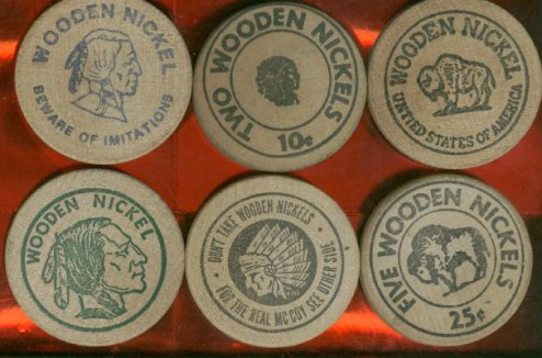 Wooden Nickels Increase In Value Parent Cue