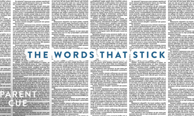 The Words that Stick