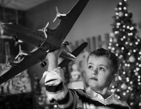 Boy with plane