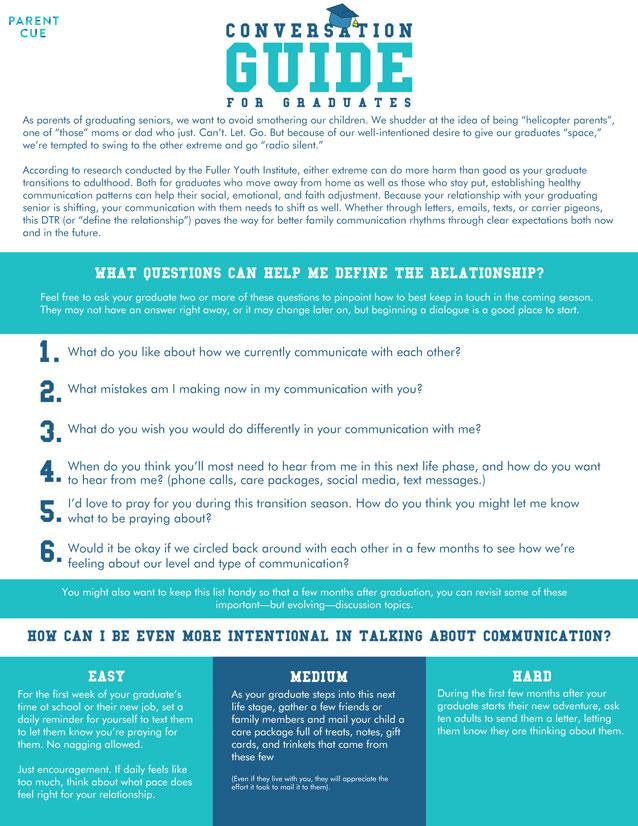 Conversation Guide for Graduates